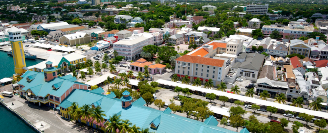 Aerial View of Cruise Terminal and Old Nassau